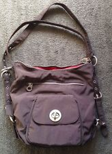 BAGGALLINI BRUSSELS 3-WAY BAG ~ Espresso Brown w/ Tomato Red Lining