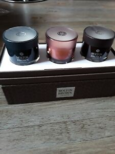 Molton Brown Scented 3 Luxury  Candle Christmas Gift Set  New Boxed