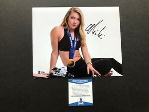 Mikaela Shiffrin Hot! signed autographed US Olympic 8x10 photo Beckett BAS coa