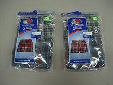 NWT Boy's Fruit Of The Loom (4) Boxer Shorts Size Small 6/8 Multi  #978A