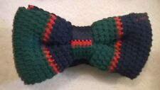 Bow Tie, Bowtie blue green red funky trendy vintage wool style. NEW