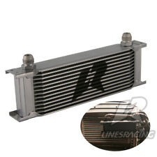"""LINESRACING Universal 248mm 13Row 10AN Engine Oil Cooler 3/4""""UNF16 Silver"""