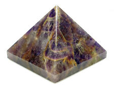PYRAMID - Large AMETHYST 50-58mm Crystal with Description Card - Healing Stone