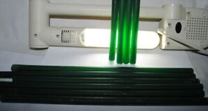 old bakelite, green translucent galalith rods, 490grams