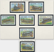 VIETNAM N°387/393** LOCOMOTIVES, TRAINS, 1983 Vietnam 1254-1260  MNH