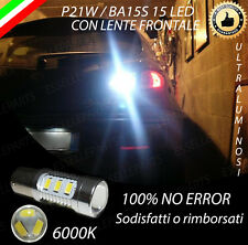 LAMPADA RETROMARCIA 15 LED P21W BA15S CANBUS PER ALFA 147 6000K NO ERROR