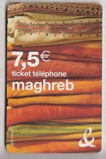 FRANCE  TICKET FT ORANGE / PHONECARD .. 7€50 MAGHREB TISSUS  Y8603 31/10/2010