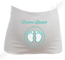 Bandeau de Grossesse Maternité J'arrive bientôt  / modèle Garçon / Future maman