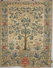 "Tree of Life William Morris Beige Ornament Mille Fleur Wall Tapestry 28""x36"""