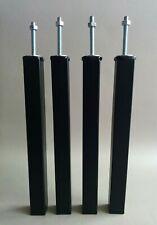 PIEDS DE LIT / SOMMIER X4 - Métal - Ø30 - HAUTEUR : 30cm -  NOIR (PL300NC30)