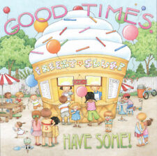 Good Times Have Some! Ice Cream-Handcrafted Fridge Magnet-W/Mary Engelbreit art