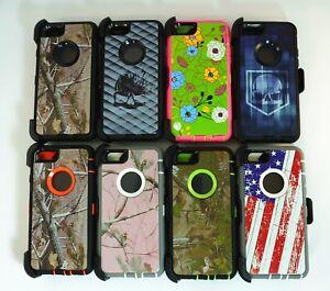 For Apple iPhone 6 Plus & 6S Plus Camo Case Cover (Clip fits Otterbox Defender)