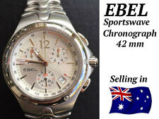 Gents Ebel Sportswave Chroonograph Full Steel Selling In Aust