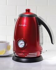 Nostalgia Electrics Retro Series Electric Water Kettle Stainless Steel Kitchen