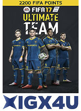 FIFA 17 2200 FUT Points CD Key [PC Game] PC EA Sport Origin Download Code UK EU