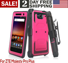 ZTE Majesty Pro / Pro Plus Phone Case Heavy Duty Belt Clip Holster Rugged Pink