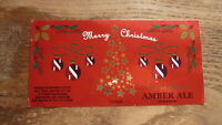 AUSTRALIAN COLLECTABLE BEER LABEL, JAMES SQUIRE MERRY CHRISTMAS AMBER ALE