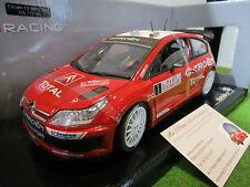 CITROËN C4 WRC # 1 LOEB RALLYE MONTE CARLO de 2007 au 1/18 SOLIDO 15071300 Rally