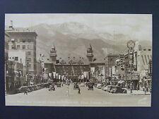Colorado Springs Pikes Peak Car Cafe Theater Signs Real Photo Postcard RPPC 1938