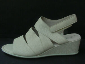 Ecco Women's Sandal Vanilla Nude Shape 35 Wedge Slingback Leather Sz 10/41 NEW