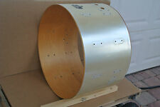 """PEARL 22"""" KISS ERA MAPLE BASS DRUM SHELL in SILVER SATIN for YOUR SET JAPAN V788"""