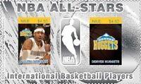 NBA All Stars Allen Iverson, Denver Nuggets Silver stamp