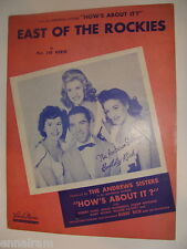 East of the Rockies 1942 Sid Robin How's About It Andrews Sisters  Buddy Rich