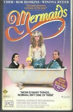MERMAIDS  (Clamshell Pal Vhs Video)  ex rental - rare - 1990  (Cher)