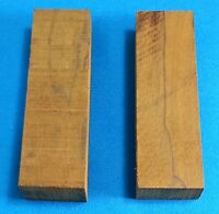 "2 Pcs. Ziricote 1"" x 2"" x 5"" Wood Knife Handle Material Blanks Scales"