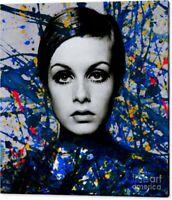 Motiv Miss Twiggy 120 cmx120 cm Arcylglas 5mm PopArt/StreetArt/Loft/XXL/Abstrakt