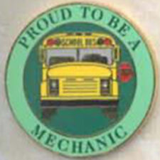 Exclusive, Proud To Be a School Bus Mechanic Lapel / Hat Pin