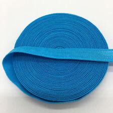 "5yds 3/8"" Sky blue Fold Over Multirole Elastic Spandex Band DIY Lace Sewing Trim"