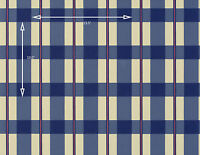 Vintage Wallpaper Country Plaid Navy Blue and Red by Motif