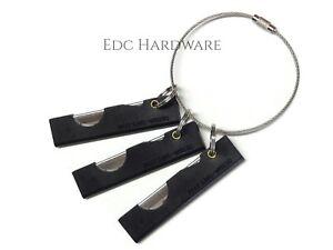 Derma-Safe Razor Knife 3 Pack with Cable Ring EDC IFAK SERE Survival HR207 Black