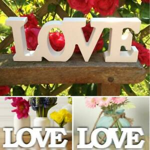 Party Decoration Home Wall Decor Letter Sign Wooden Supplies LOVE Shapes Gift