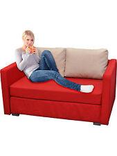 VCM 2er Schlafsofa Sofabett Couch Bett Sofa mit Schlaffunktion Rot 60x122x78 cm