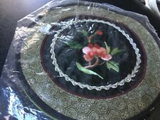 14cm diameter Chinese embroidered doily Brand new Surplus to need