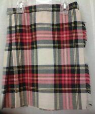 Multi color plaid pure wool KILT SKIRT~ United Kingdom ~Girls Size 4