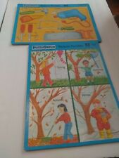 2 PUZZLE PATCH PICTURE WOOD PUZZLES 25 PIECES EACH
