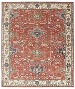 Parsian Red Ziegler Handmade Wool Traditional Oriental Style Area Chainni Rugs