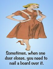 Metal Fridge Magnet When One Door Closes Nail Board Over It Friend Family Humor