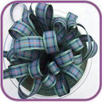 Berisfords 10mm Tartan Ribbon Choice of 17 Colours, Choose Length - Free UK Post