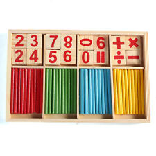 Montessori Wooden Number Math Game Sticks Educational Puzzle Early Learning Toy