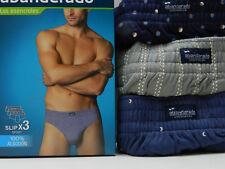 3 Men´s slip brief sport cerrado Abanderado 100% algodón estampado T.XL A0070
