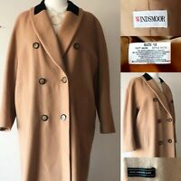 WINDSMOOR Cashmere Camel Brown Coat 12 Long Formal Soft Classic Church Smart