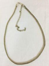 Vintage 1980's Mesh And Rhinestone Tennis Bracelet Style Belt. Silver.