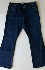 Loft 34 / 18  Curvy Boot Cut Jeans Dark Wash Denim Stretch Pockets Blue Pants