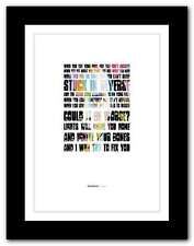 More details for coldplay - fix you ❤ song lyrics poster art limited edition typography print #6