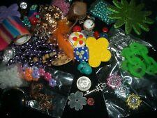 Jewelry bead lot metal glass lampwork plastic spacer rhinestone string seed d5