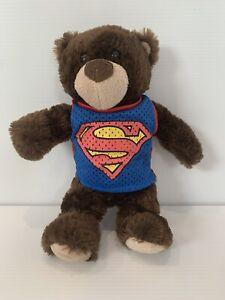 Superman Plush Teddy Bear - 36cm tall Rare Movie World Super